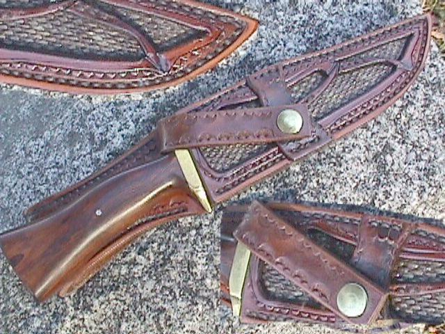 black tail rattle snake panel Sheath